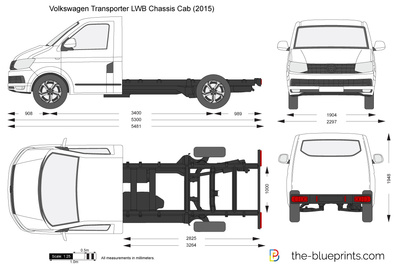 Volkswagen Transporter T6 LWB Chassis Cab