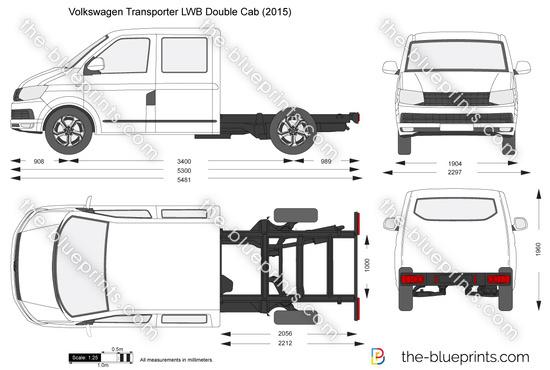 Volkswagen Transporter T6 LWB Double Cab