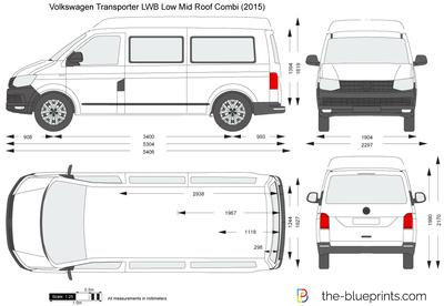 Volkswagen Transporter T6 LWB Low Mid Roof Combi