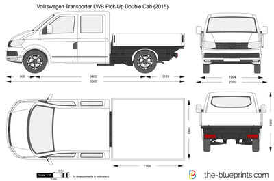 Volkswagen Transporter T6 LWB Pick-Up Double Cab