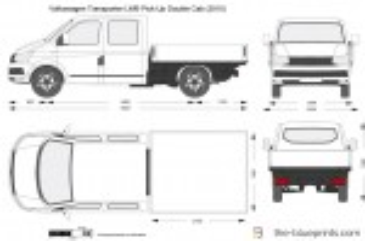 Volkswagen Transporter T6 LWB Pick-Up Double Cab