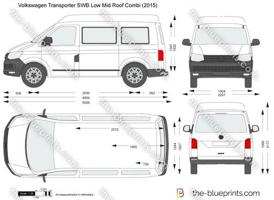 Volkswagen Transporter T6 SWB Low Mid Roof Combi