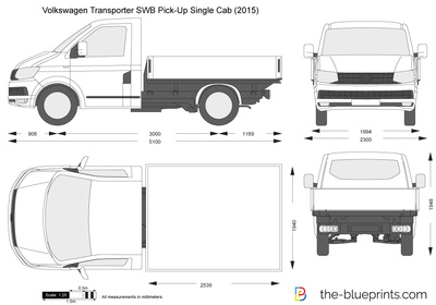 Volkswagen Transporter T6 SWB Pick-Up Single Cab
