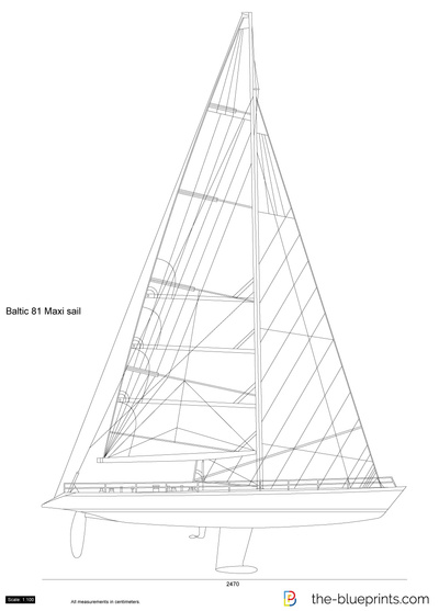 Baltic 81 Maxi sail