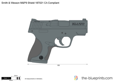 Smith & Wesson M&P9 Shield 187021 CA Compliant