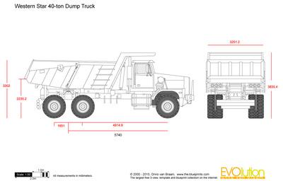 Western Star 40-ton Dump Truck