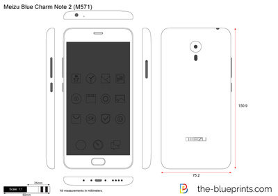 Meizu Blue Charm Note 2 (M571)