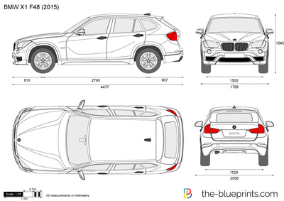 bmw x1 f48 vector drawing. Black Bedroom Furniture Sets. Home Design Ideas
