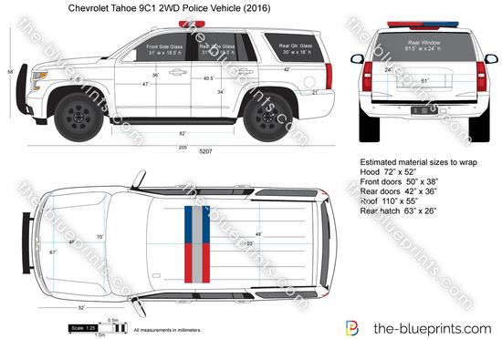 Chevrolet Tahoe 9C1 2WD Police Vehicle