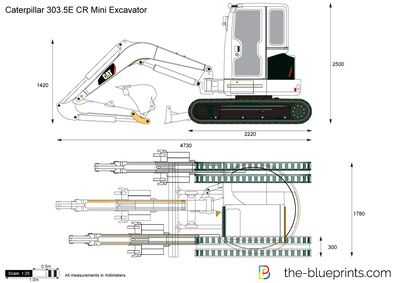 Caterpillar 303.5E CR Mini Excavator