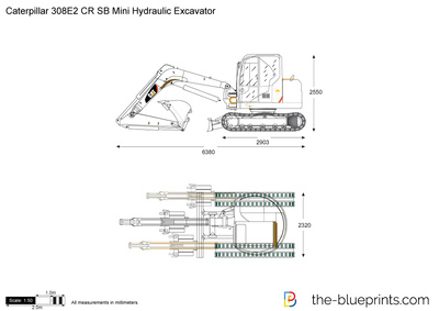 Caterpillar 308E2 CR SB Mini Hydraulic Excavator