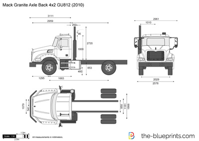Mack Granite Axle Back 4x2 GU812