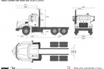 Mack Granite Axle Back 6x4 GU813 (2010)