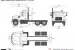 Mack Granite Axle Forward 6x4 GU713 (2010)