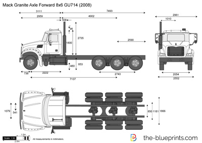 Mack Granite Axle Forward 8x6 GU714
