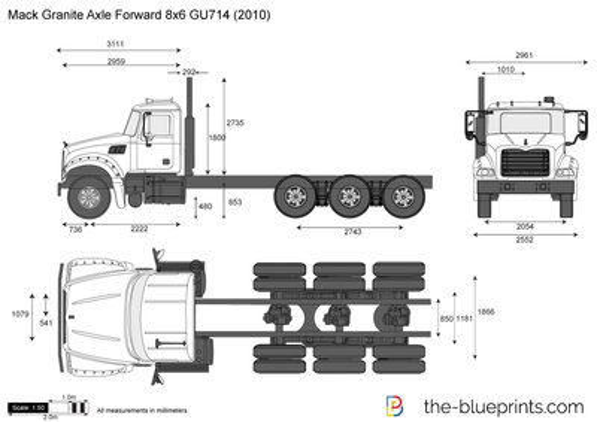 Mack Granite Axle Forward 8x6 GU714