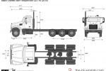 Mack Granite Axle Forward 8x6 GU714 (2010)