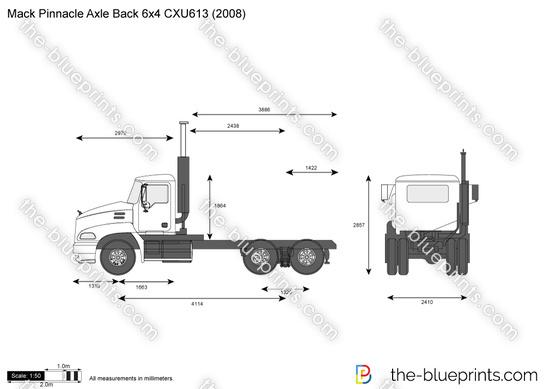 Mack Pinnacle Axle Back 6x4 CXU613