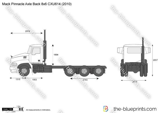 Mack Pinnacle Axle Back 8x6 CXU614