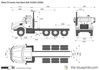 Mack Pinnacle Axle Back 8x6 GU804 (2008)