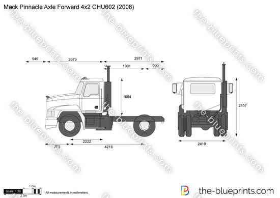 Mack Pinnacle Axle Forward 4x2 CHU602