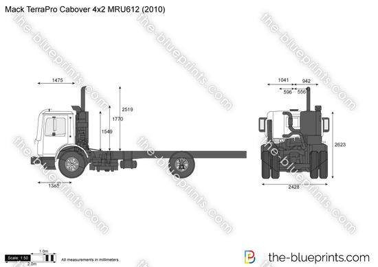 Mack TerraPro Cabover 4x2 MRU612