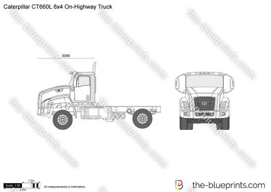 Caterpillar CT660L 6x4 On-Highway Truck