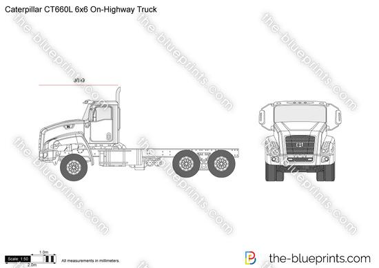 Caterpillar CT660L 6x6 On-Highway Truck