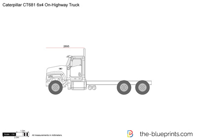 Caterpillar CT681 6x4 On-Highway Truck