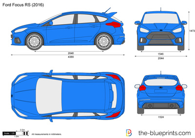 The vector drawing ford focus rs for Ford motor credit application pdf