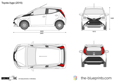 the vector drawing toyota aygo. Black Bedroom Furniture Sets. Home Design Ideas
