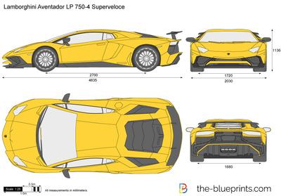 Lamborghini Aventador Lp 750 4 Superveloce Vector Drawing