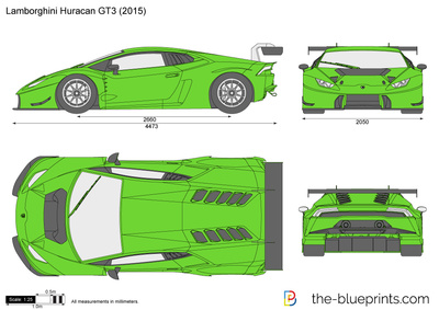 Lamborghini Huracan Gt3 Vector Drawing