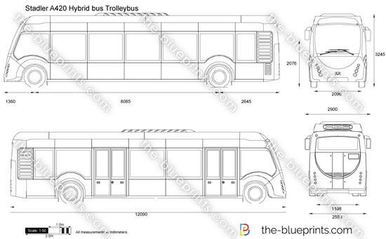 Stadler A420 Hybrid bus Trolleybus