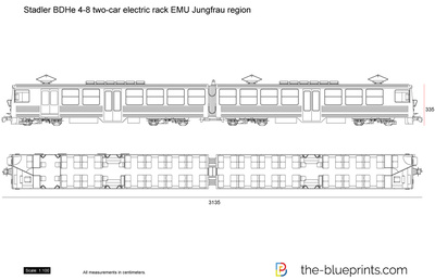 Stadler BDHe 4-8 two-car electric rack EMU Jungfrau region