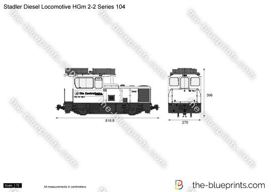 Stadler Diesel Locomotive HGm 2-2 Series 104