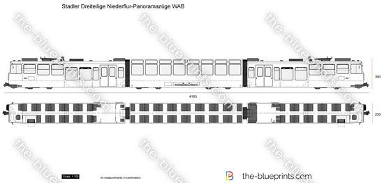 Stadler Dreiteilige Niederflur-Panoramazuge WAB