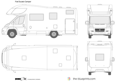 Fiat Ducato Camper Vector Drawing