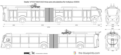 Stadler VITOVT MAX DUO three-axle articulatedlow-flor trolleybus 43303A