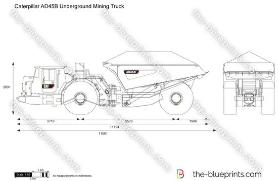 Caterpillar AD45B Underground Mining Truck