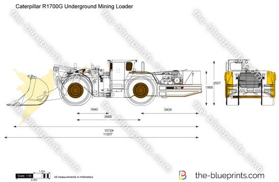 Caterpillar R1700G Underground Mining Loader