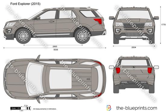 Ford Explorer Wheels >> The-Blueprints.com - Vector Drawing - Ford Explorer