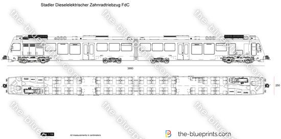 Stadler Dieselelektrischer Zahnradtriebzug FdC