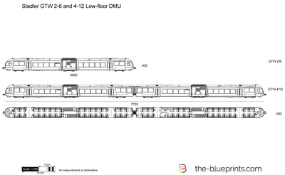 Stadler GTW 2-6 and 4-12 Low-floor DMU