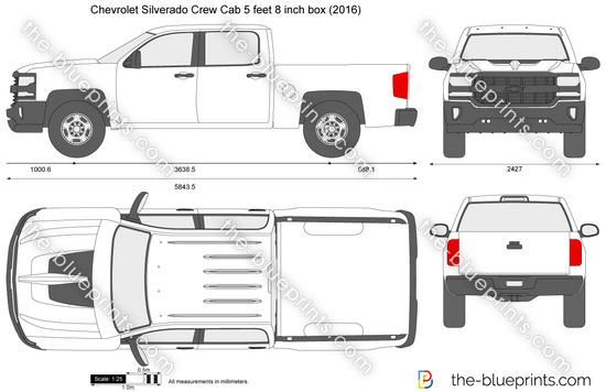 Chevrolet Silverado Crew Cab 5 feet 8 inch box