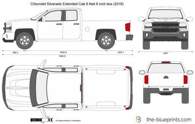 Chevrolet Silverado Extended Cab 6 feet 6 inch box