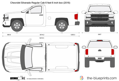 Chevrolet Silverado Regular Cab 6 feet 6 inch box