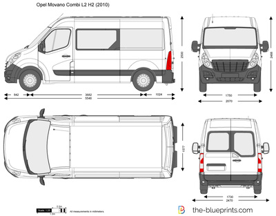 the vector drawing opel movano combi l2 h2. Black Bedroom Furniture Sets. Home Design Ideas