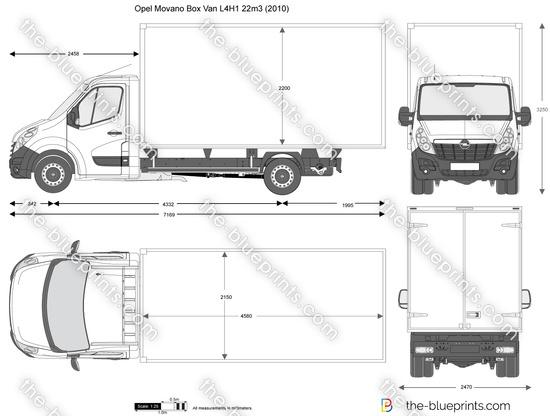 Opel Movano Box Van L4H1 22m3