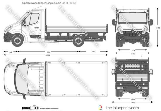 Opel Movano Kipper Single Cabin L2H1